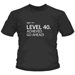 Level 40. achieved. Go ahead!