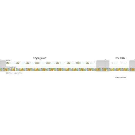 Smycz Best - 15 lub 20 mm dwuczęściowa - z obustronnym nadrukiem
