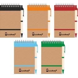 Notes Ekotes z nadrukiem z długopisem ekologicznym