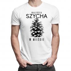Najlepsza szycha w mieście - męska koszulka z nadrukiem