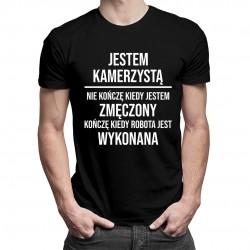 Jestem kamerzystą - męska koszulka z nadrukiem