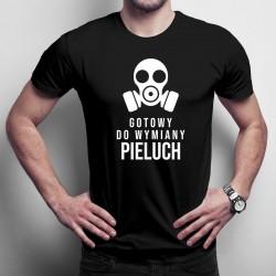 Gotowy do wymiany pieluch - męska koszulka z nadrukiem
