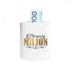 Pierwszy milion - skarbonka z nadrukiem