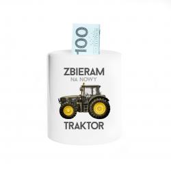 Zbieram na nowy traktor - skarbonka z nadrukiem