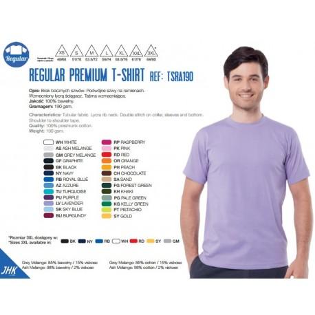 T-shirt męski premium 190g