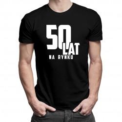 50 lat na rynku - męska koszulka z nadrukiem