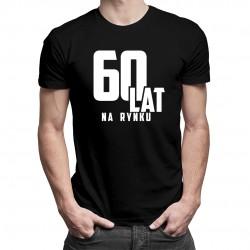 60 lat na rynku - męska koszulka z nadrukiem