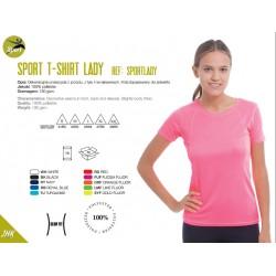 Koszulka damska sportowa oddychająca 100% poliester
