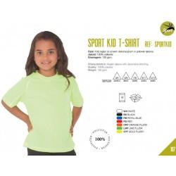 Koszulka dziecięca sportowa oddychająca 100% poliester