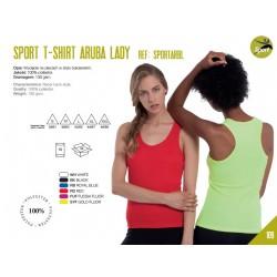 Koszulka damska sportowa na ramiączkach 100% poliester