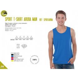 Koszulka męska sportowa na ramiączkach 100% poliester