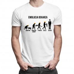 Ewolucja dekarza - męska koszulka z nadrukiem