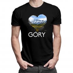 Góry - męska lub damska koszulka z nadrukiem