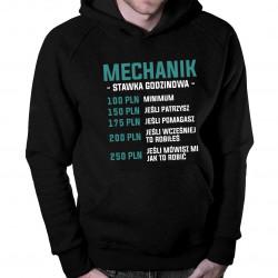 Mechanik - stawka godzinowa - męska bluza z nadrukiem