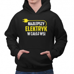 Najlepszy elektryk w całej wsi - męska bluza z nadrukiem