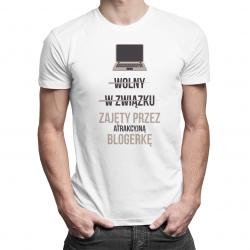 Przykro mi - jestem już zajęty przez atrakcyjną lekarkę - męska koszulka z nadrukiem