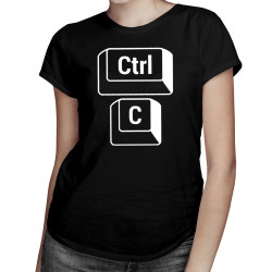 Ctrl C - dla mamy - damska koszulka z nadrukiem
