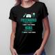 Mama Pielęgniarka - godziny pracy - damska koszulka z nadrukiem
