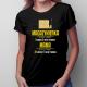 Mama Magazynierka - godziny pracy - damska koszulka z nadrukiem