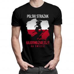 Polski strażak - męska koszulka z nadrukiem