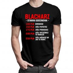 Blacharz - stawka godzinowa - męska koszulka z nadrukiem