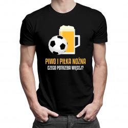 Piwo i piłka nożna - męska koszulka z nadrukiem