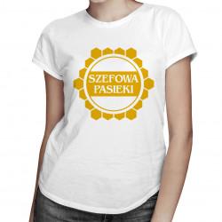 Szefowa pasieki - damska koszulka z nadrukiem