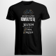 Jestem super rowerzystą, jestem też super tatą i mężem - męska koszulka z nadrukiem