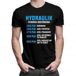 Hydraulik - stawka godzinowa - męska koszulka z nadrukiem