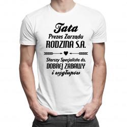 Tata - prezes zarządu - męska koszulka z nadrukiem
