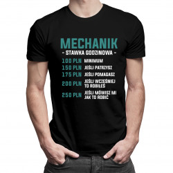 Mechanik - stawka godzinowa - męska koszulka z nadrukiem