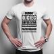 Dumny ojciec super syna urodzonego w Październiku - męska koszulka z nadrukiem