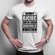 Dumny ojciec super córki urodzonej w kwietniu - męska koszulka z nadrukiem