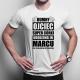 Dumny ojciec super córki urodzonej w marcu - męska koszulka z nadrukiem