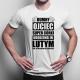 Dumny ojciec super córki urodzonej w lutym - męska koszulka z nadrukiem