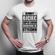 Dumny ojciec super córki urodzonej w styczniu - męska koszulka z nadrukiem