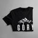 Góry wzywają - muszę iść - męska lub damska koszulka z nadrukiem
