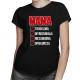 Mama troskliwa, wyrozumiała, niezawodna, opiekuńcza - damska koszulka z nadrukiem