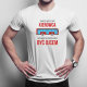 Zawsze możesz być kierowcą, ale nigdy nie przestajesz być tatą - męska koszulka z nadrukiem