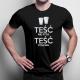 Teść nie pyta, teść polewa - męska koszulka z nadrukiem