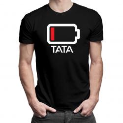 Bateria - męska koszulka z nadrukiem dla taty