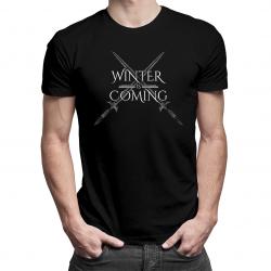 Winter is coming - męska koszulka z nadrukiem