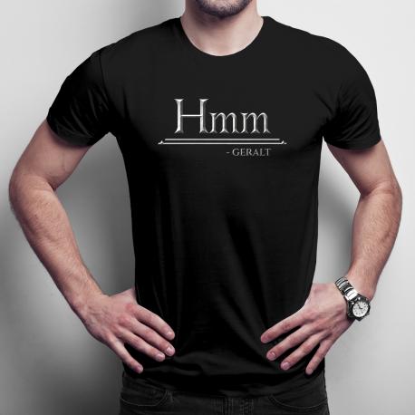 Hmm - Geralt - męska koszulka z nadrukiem