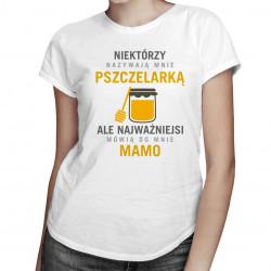 Niektórzy nazywają mnie pszczelarką - damska koszulka z nadrukiem