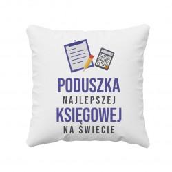 Poduszka najlepszej księgowej na świecie - poduszka z nadrukiem