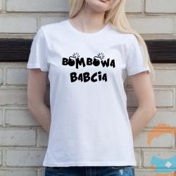 Super babcia - damska koszulka z nadrukiem