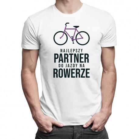 Najlepszy partner do jazdy na rowerze - męska koszulka z nadrukiem