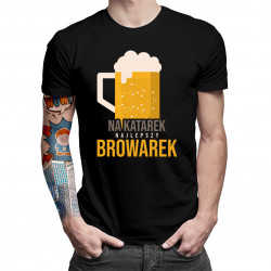 Na katarek najlepszy browarek - męska koszulka z nadrukiem