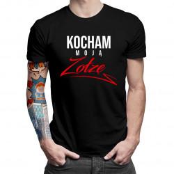 Kocham moją zołzę - męska koszulka z nadrukiem