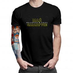 Mąż - najlepszy w całej galaktyce - męska koszulka z nadrukiem